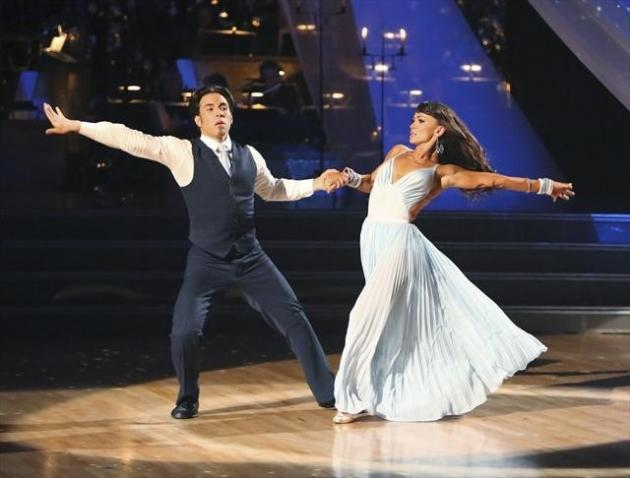 Apolo Anton Ohno and Karina Smirnoff perform on 'Dancing with the Stars: All-Stars,' Oct. 29, 2012 -- ABC