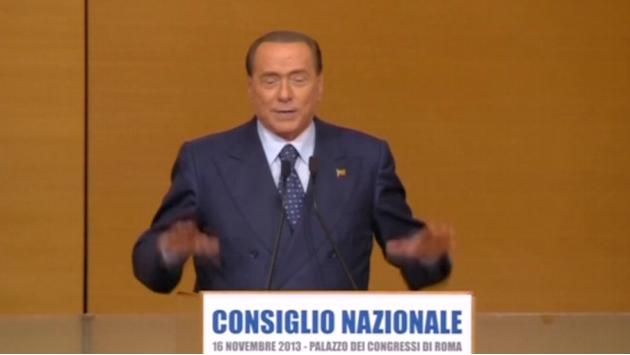 Emotional Berlusconi leads rebranding of political party