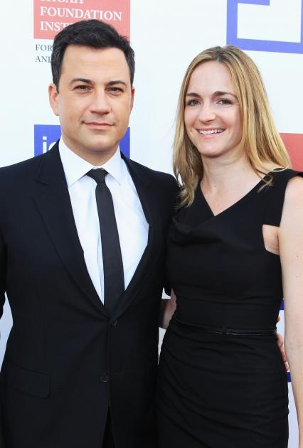 Funnyman Jimmy Kimmel and writer Molly McNearney shared their engagement news in August 2012 -- Getty Images