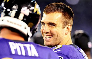 Joe Flacco had a lot to smile about Monday night against the Bengals. (US Presswire)