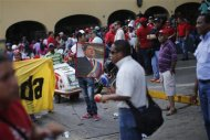 Supporters of Venezuela&#39;s President Hugo Chavez attend a rally in Caracas February 27, 2013. REUTERS/Jorge Silva