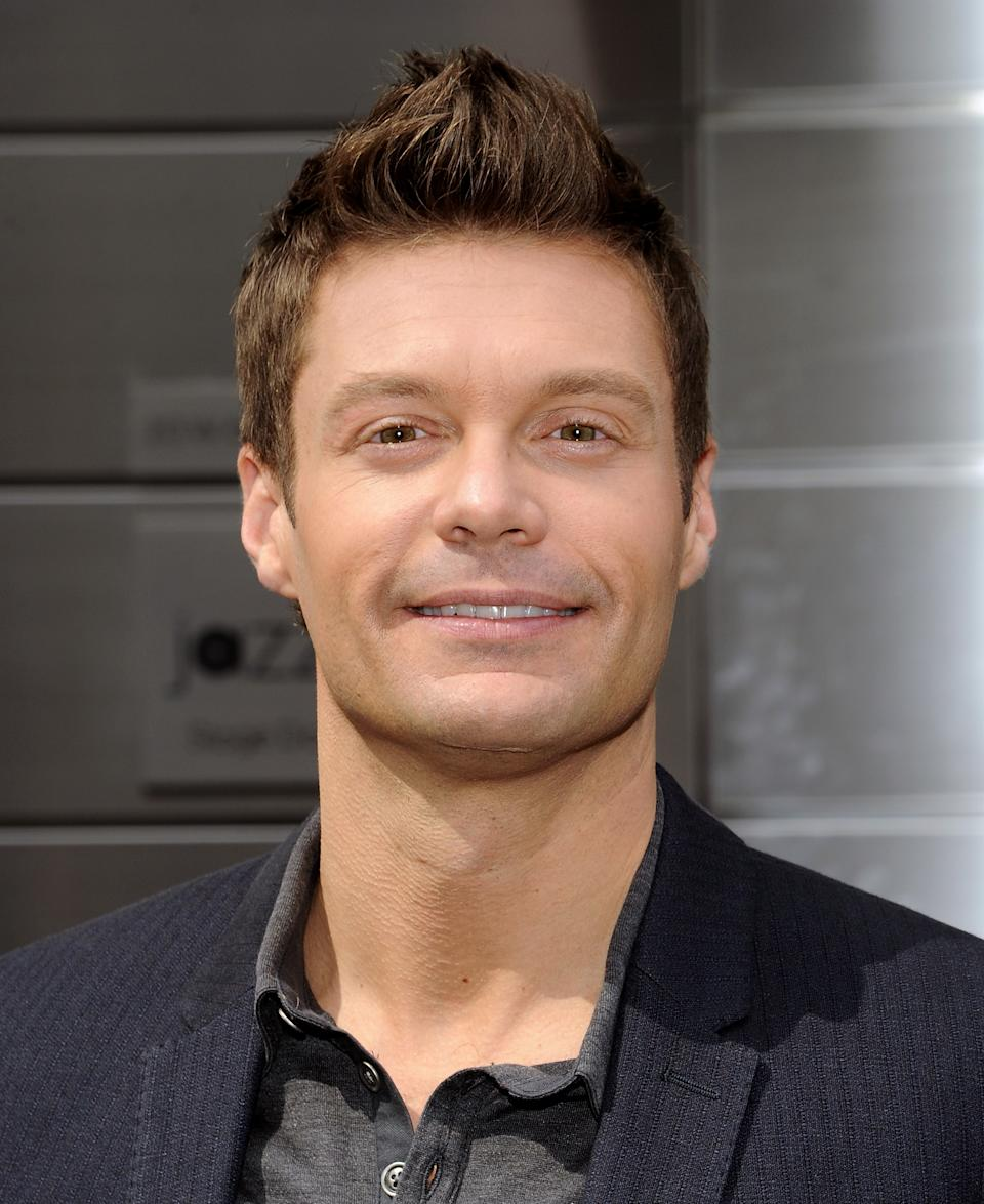 """American Idol"" Season 12 host Ryan Seacrest arrives for day one auditions at Jazz at Lincoln Center on Sunday, Sept. 16, 2012 in New York. (Photo by Evan Agostini/Invision/AP)"