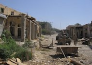 The main market of Kajaki district in Helmand province, Afghanistan, is shown. Seventeen party-goers who were holding a gathering with music in a southern Afghanistan village were beheaded