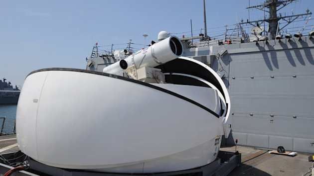 Navy's New Laser Weapon Blasts Bad Guys From Air, Sea (ABC News)