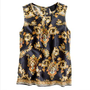 J Crew Top: Oriental Influence: Fashion Trend