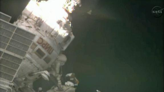 Russian Cosmonauts Take Spacewalk Outside Space Station
