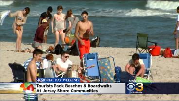 Tourists Pack Beaches, Boardwalk At Jersey Shore