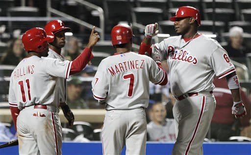 Phillies score 8 in 1st inning to rout Mets 16-1