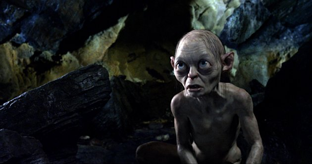 "This publicity file photo released by Warner Bros., shows the character Gollum, voiced by Andy Serkis, in a scene from the fantasy adventure ""The Hobbit: An Unexpected Journey."" (AP Photo/Warner Bros., File)"