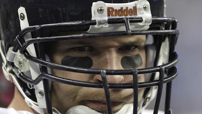 FILE - In this Oct. 10, 2011 file photo, Chicago Bears middle linebacker Brian Urlacher (54) watches against the Detroit Lions in the first quarter of their NFL football game in Detroit. Urlacher says he's retiring after spending 13 seasons with the Bears. The eight-time Pro Bowler announced his retirement through social media accounts Wednesday, May 22, 2013.  (AP Photo/Paul Sancya, File)