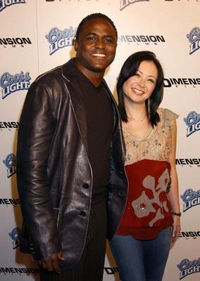 Wayne Brady and wife at the LA premiere of Dimension's Scary Movie 3
