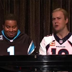 Watch: 'SNL' spoofs Peyton and Cam with 'Ebony and Ivory'