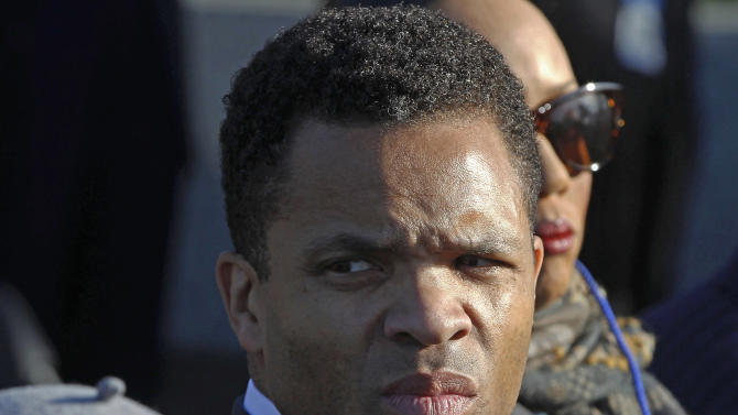 FILE - In this Oct. 16, 2011 file photo, Rep. Jesse Jackson, Jr., D-Ill., is seen during the dedication of the Martin Luther King Jr. Memorial in Washington.  A spokesman at the Mayo Clinic in Minnesota said Tuesday, Nov. 13, 2012,  Jackson has left the clinic, where he was being treated for bipolar disorder for the second time since taking a leave of absence in June. (AP Photo/Charles Dharapak, File)