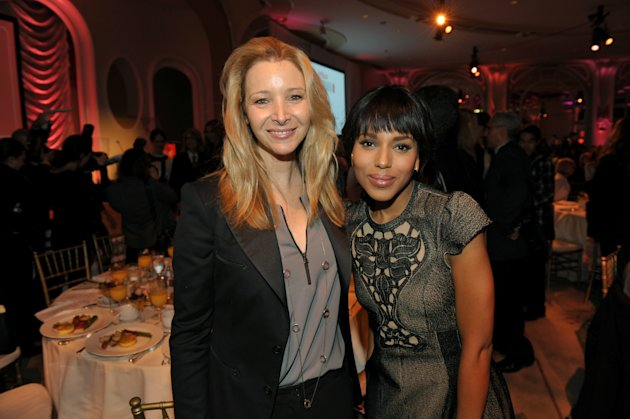 IMAGE DISTRIBUTED FOR THE HOLLYWOOD REPORTER - Actresses Lisa Kudrow, left, and Kerry Washington pose for a photo at The Hollywood Reporter's 21st Annual Women in Entertainment Power 100 breakfast presented by Lifetime on Wednesday, Dec. 5, 2012 in Beverly Hills, Calif. (Photo by John Shearer/Invision for The Hollywood Reporter/AP Images)