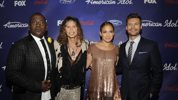 Randy Jackson, Steven Tyler, Jennifer Lopez, and Ryan Seacrest