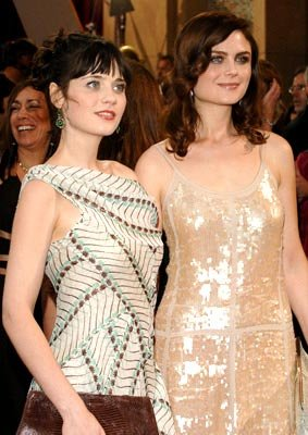 Zooey Deschanel and Emily Deschanel 77th Annual Academy Awards - Arrivals Hollywood, CA - 2/27/05