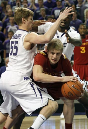 Christopherson, Iowa State beat Kansas State 65-61