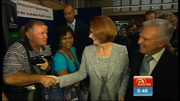 Gillard improves in the polls