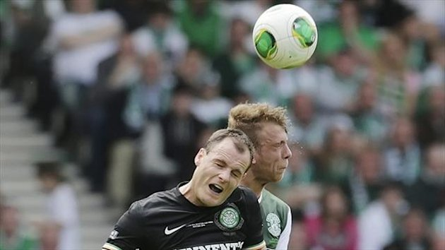 Jordon Forster, right, has signed a one-year deal with Hibernian