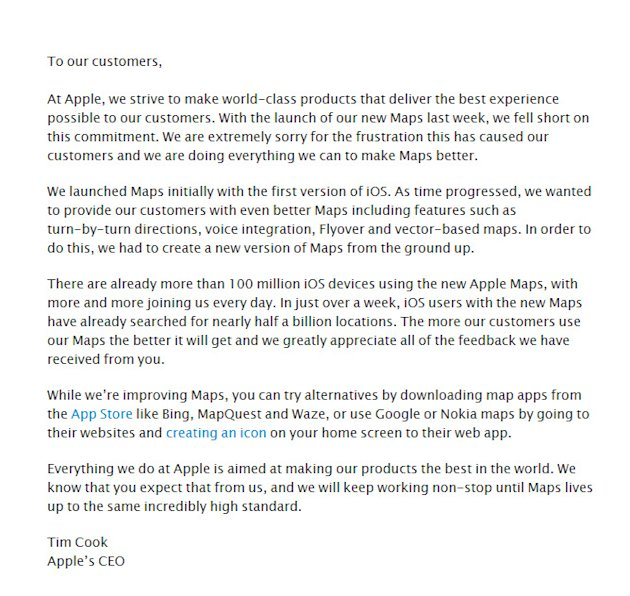 Apple CEO Tim Cook's apology …