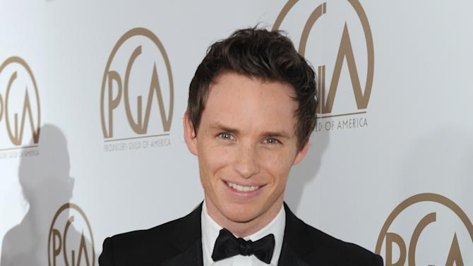 IMAGE DISTRIBUTED FOR THE PRODUCERS GUILD - Eddie Redmayne arrives at the 24th Annual Producers Guild (PGA) Awards at the Beverly Hilton Hotel on Saturday Jan. 26, 2013, in Beverly Hills, Calif. (Photo by Jordan Strauss/Invision for The Producers Guild/AP Images)