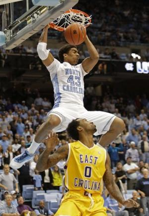 No. 21 Tar Heels hold off Pirates 93-87