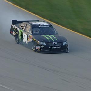 Hornish's hopes go up in smoke