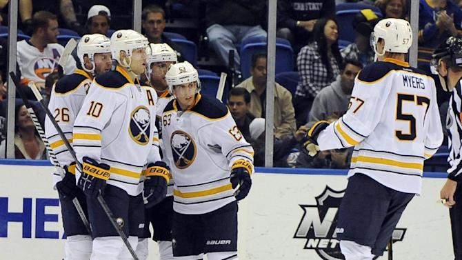 Sabres rally, earn 1st win of season in SO