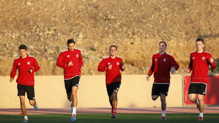 Bayern Munich's soccer players attend a training session in Marrakech Stadium