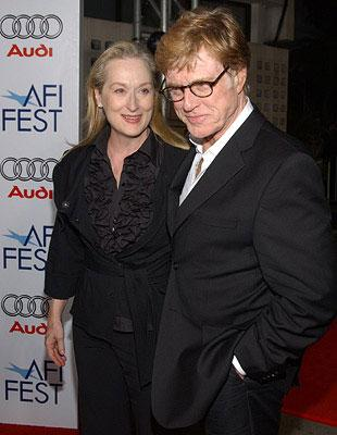 Meryl Streep and Robert Redford at the AFI Fest opening night gala presentaion of United Artists' Lions for Lambs