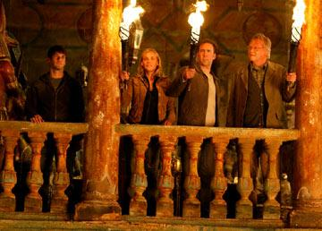 Justin Bartha , Diane Kruger , Nicolas Cage and Jon Voight in Walt Disney Pictures' National Treasure