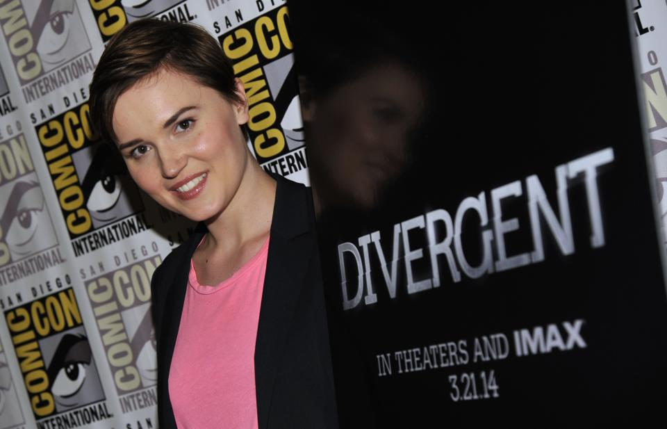 "Author Veronica Roth attends the ""Divergent"" press line on Day 2 of Comic-Con International on Thursday, July 18, 2013 in San Diego, Calif. (Photo by Chris Pizzello/Invision/AP)"