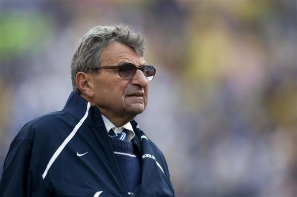 Penn State head coach Joe Paterno watches his team during the fourth quarter of the Capital One Bowl NCAA football game in Orlando, Florida
