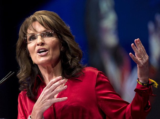 FILE - In this Feb. 11, 2012 file photo, Sarah Palin, the GOP candidate for vice-president in 2008, and former Alaska governor speaks in Washington. Palin on Sunday, Aug. 12, 2012 said she won't speak at the Republican National Convention later this month in Tampa, Fla. (AP Photo/J. Scott Applewhite)