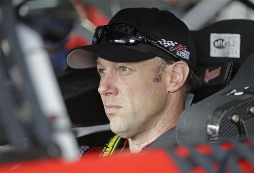 Matt Kenseth waits in his car before practice for Sunday's NASCAR Sprint Cup series Coca-Cola 600 auto race at Charlotte Motor Speedway in Concord, N.C., Thursday, May 23, 2013