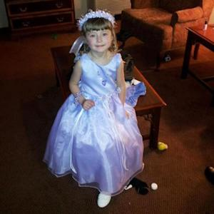 This April 14, 2012 photo provided by Lori Croft shows her 4-year-old granddaughter Isabella Brademeyer, in Wichita, Kan., where she was a flower girl at her uncle's wedding. Brademeyer and her mom passed through security at the Wichita airport without incident when the girl ran over to briefly hug her grandmother, Croft, who was awaiting a pat-down after tripping the alarm. TSA then insisted the girl also undergo a physical pat-down, putting the agency on the defensive despite new procedures aimed at reducing pat-downs of children. (AP Photo/Lori Croft)