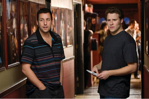 Adam Sandler Seth Rogen Funny People Production Stills Paramount 2009