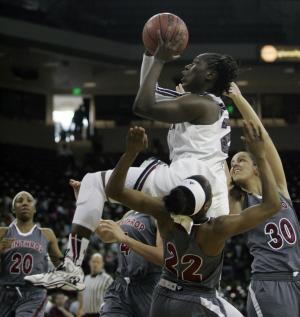 No. 10 South Carolina women top Winthrop 69-61