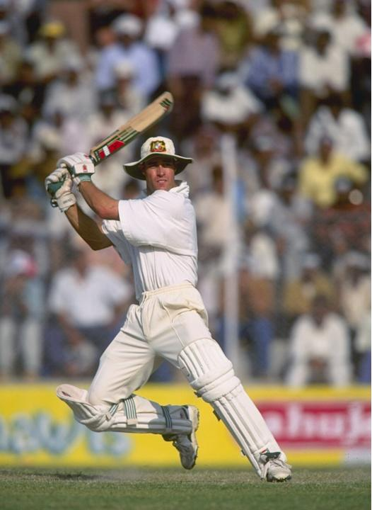 Michael Bevan of Australia batting