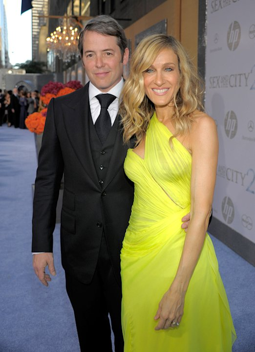 Sex and the city 2 NY premiere 2010 Matthew Broderick Sarah Jessica Parker