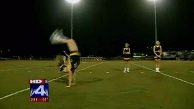 High School Cheerleader Sets Handspring World Record
