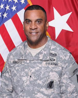 This undated photo provided by the U.S. Army shows Brig. Gen. Bryan Roberts. Roberts, the one-star general suspended in May over charges of adultery and involvement in a physical altercation, was relieved of his command at Fort Jackson, S.C., on Thursday afternoon, July 11, 2013, due to misconduct, said Army spokesman Harvey Perritt. (AP Photo/U.S. Army)