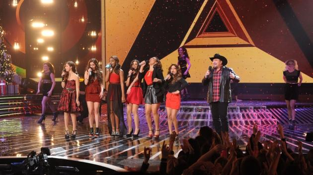 Carly Rose Sonenclar, Fifth Harmony and Tate Stevens perform during 'The X Factor' Season 2 final, Dec. 20, 2012 -- FOX