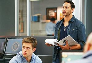 Aaron Tveit and Daniel Sunjata | Photo Credits: USA Network