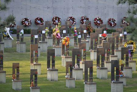 The Field of Empty Chairs is seen during the 20th Remembrance Ceremony, the anniversary ceremony for victims of the 1995 Oklahoma City bombing, at the Oklahoma City National Memorial and Museum in Oklahoma City