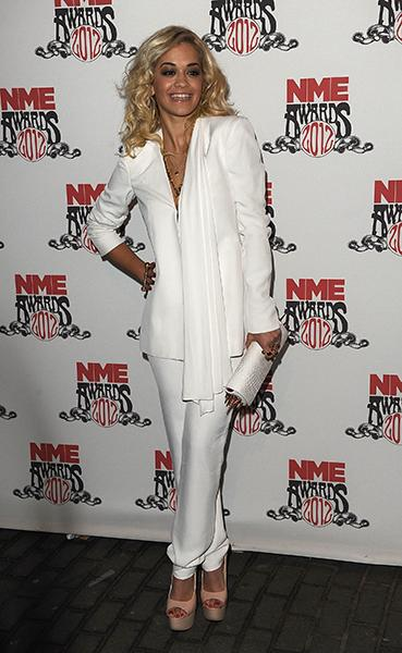 On the red carpet of the NME Awards this year