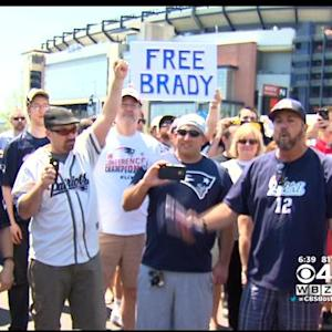 'Free Tom Brady' Rally Draws Hundreds Of Patriots Fans