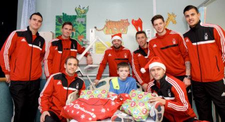 Soccer - Nottingham Forest Queens Medical Centre Hospital Visit - Nottingham