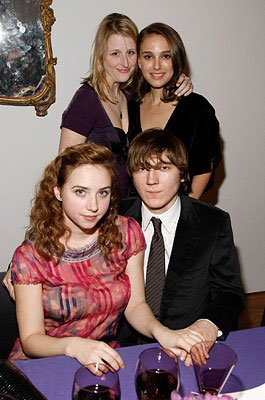 Mamie Gummer , Natalie Portman , Zoe Kazan  and Paul Dano at a private screening of Columbia Pictures' The Other Boleyn Girl in New York City