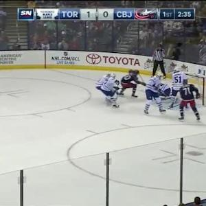 Jonathan Bernier Save on Nick Foligno (17:23/1st)